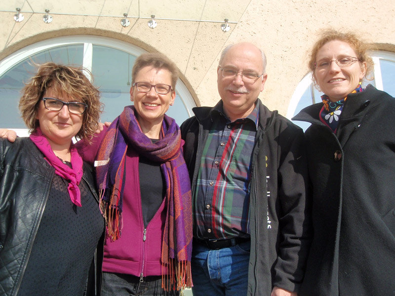 EUROPEA's 2011-2014 Executive Committee. From left to right: Wiesia Gąsiorowska (Poland), Elisabeth Hönigsberger (Austria), Henrik Dethlefsen (Denmark) and Sophie Blainville-Wellburn (France).