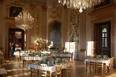 Royal settings for the closing dinner in Schloß Eckartsau