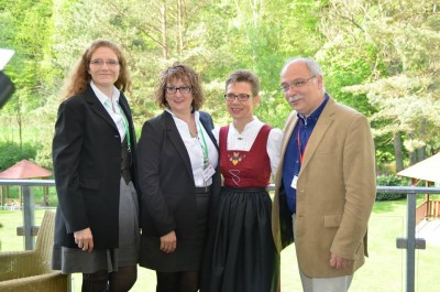 The confirmed executive committee. From left to right: Sophie Blainville-Wellburn (France), treasurer; Wiesia Gąsiorowska (Poland); vice treasurer; Elisabeth Hönigsberger (Austria), vice executive secretary; Henrik Dethlefsen (Denmark), executive secretary