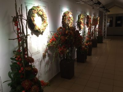 exhibition of floristry competition settings