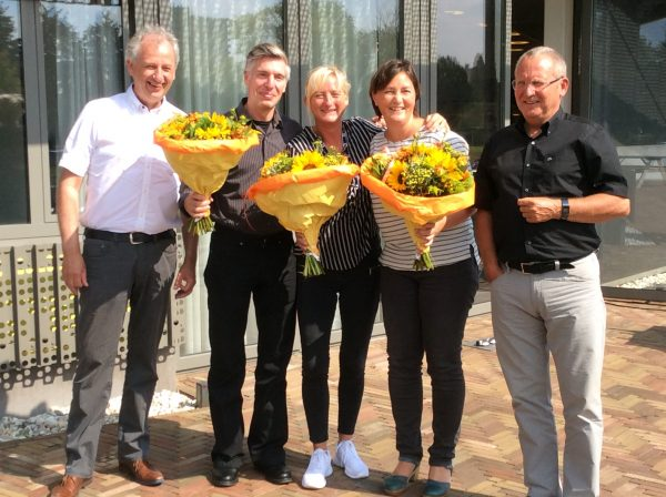 The new board of EUROPEA Nederland from left to right: Harrie Meijer, Jan Jeronimus, Ilse Terpstra, Karin Elferink and Paul Gehlen.