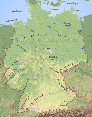 Germany Landscape Diversity As Its Best